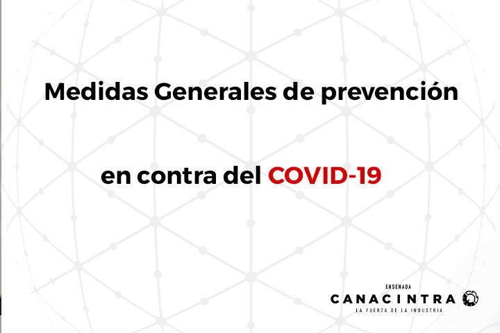 COVID-19 Medidas generales de prevención