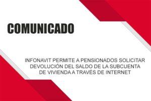 PENSIONADOS: DEVOLUCIÓN SALDO DE SUB-CUENTA