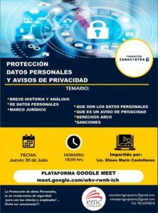 Protección de Datos Personales y Avisos de Privacidad @ google meet