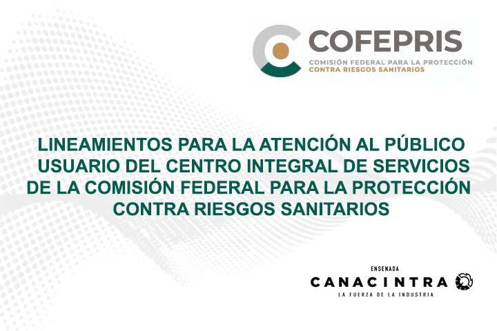 Lineamientos CIS: (COFEPRIS)