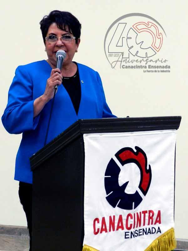 Mensaje de la Licenciada Amalia Vizcarra Berumen, presidente de la Cámara Nacional de la Industria de Transformación, Delegación Ensenada